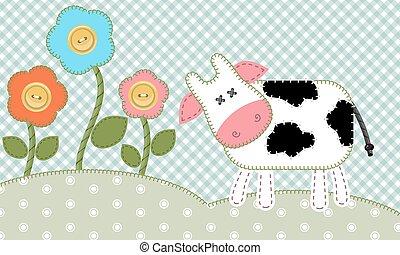mucca, carino