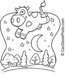 mucca, luna
