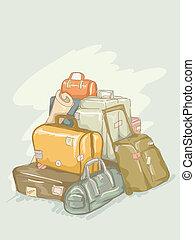 mucchio, bagaglio