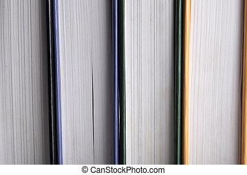 mucchio, libri, vista, libri, lato, fondo