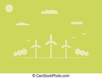 mulino vento, paesaggio