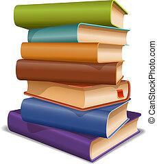 multi, libri, colorato