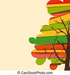 multicolor, albero, fondo