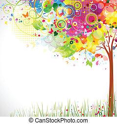 multicolor, albero