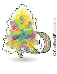 multicolor, albero, natale