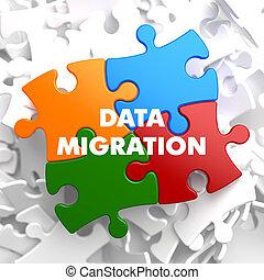 multicolor, dati, migrazione, puzzle.