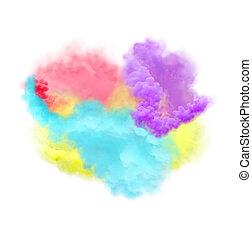 multicolor, fondo, fumo, astratto, smoke., isolato, arcobaleno