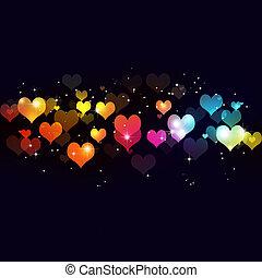 multicolor, fondo, valentina