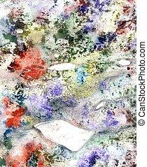 multicolor, grunge, fondo