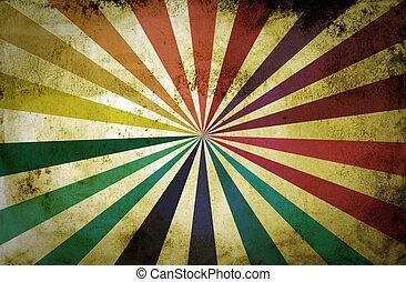 multicolor, grunge, raggi sole, fondo