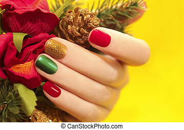 multicolor, manicure.