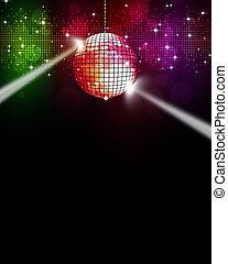 multicolor, musica, fondo, discoteca