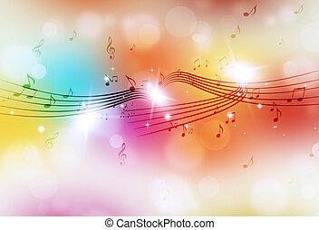 multicolor, musica, luminoso, fondo