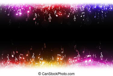 multicolor, note musica, fondo