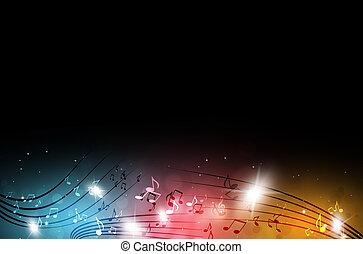 multicolor, note musica
