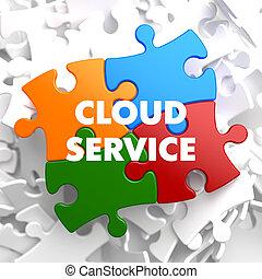 multicolor, nuvola, servizio, puzzle.