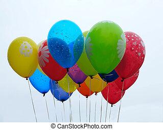 multicolor, palloni
