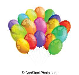 multicolor, palloni, sfondo bianco