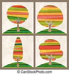 multicolor, set, albero