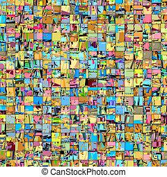 multiplo, colorare, astratto, piastrella mosaico, fondale