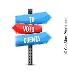multiplo, colorare, destinazione, segno, strada, spagnolo, voto, conta, tuo