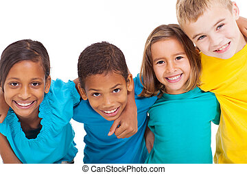 multirazziale, bambini, gruppo