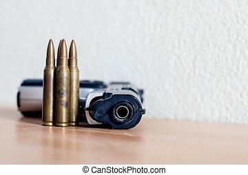 munizioni, pistole