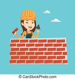 muratore, spatola, brick., lavorativo