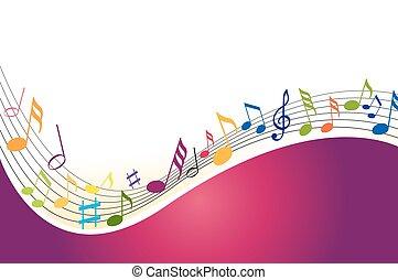 musica, colore sfondo, note