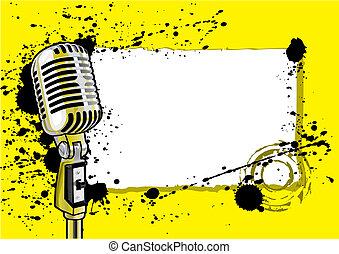 musica, disegno, evento, (vector)