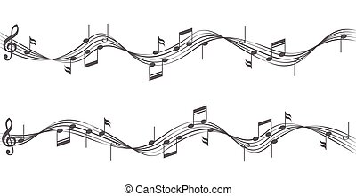 musica, doghe, note