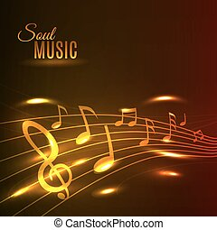 musica, dorato, manifesto, doga, note