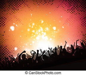 musica, folla, fondo