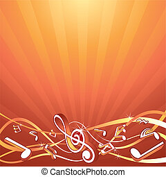 musica, fondale