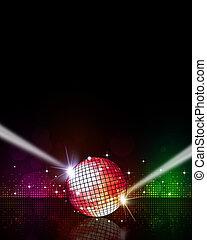 musica, fondo, discoteca