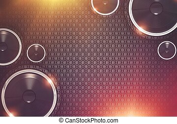 musica, fondo, mostra