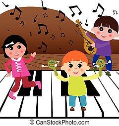 musica, gioco, bambini