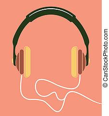 musica, icona, cuffie