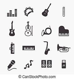 musica, icona