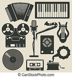 musica, icone