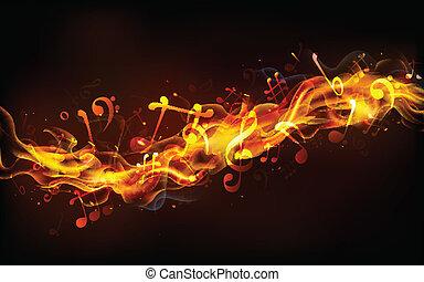 musica, infocato