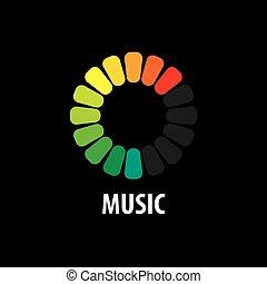 musica, logotipo, vettore