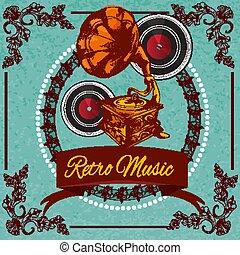musica, manifesto, retro