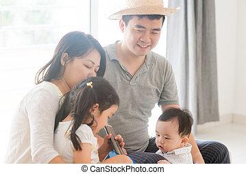 musica strumento, gioco, famiglia