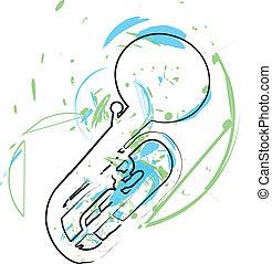 musica, vettore, instrument., illustrazione