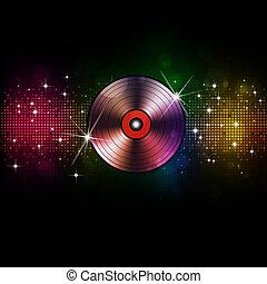 musica, vinile, fondo, discoteca