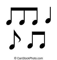 musicale, fondo, semplice, note, bianco