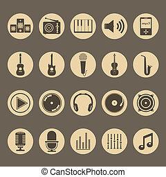 musicale, icone