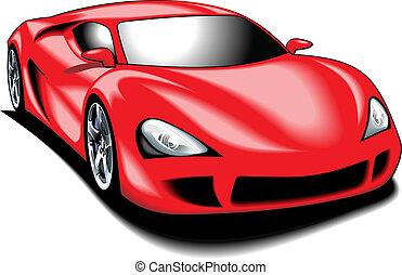 (my, colorare, automobile, design), sport, mio, originale, rosso