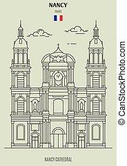 nancy, france., cattedrale, punto di riferimento, icona, nancy
